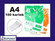 Blok notatnikowy szkolny A4 100 kartek w kratkę