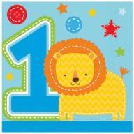 Serwetki na ROCZEK liczba 1 urodziny ONE WILD BOY