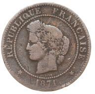 Francja - moneta - 5 Centymów 1871 A - 2