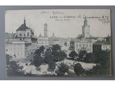 LWÓW LEMBERG Plac Św. Ducha zabór austrowęgry