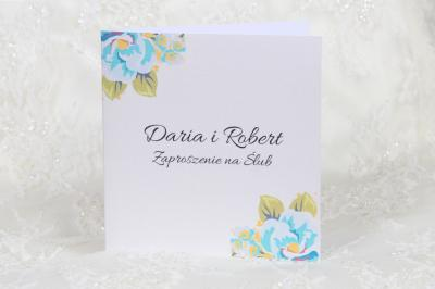 Piękne Zaproszenia Na ślub Cywilny Silver Flowers 5934365129