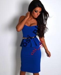 fb44ec8db5 Bodycon CHABROWA sukienka z baskinką L - 3411570829 - oficjalne ...