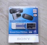 SONY Memory Stick PRO DUO 4gb z adapterem BLISTER