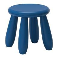 IKEA MAMMUT - stołek dziecięcy granatowy