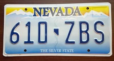 Nevada Tablica Rejestracyjna Usa 6910516113 Oficjalne Archiwum Allegro