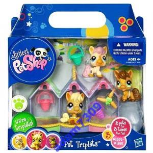 Littlest Pet Shop - TROJACZKI KONIKI - 3 Figurki