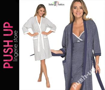 e485d46fc7b27a Italian Fashion szlafrok Elena bawełna KOLORY / S - 5975407965 ...