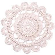 Dywan sznurkowy - kwiatek beżowy - śr. 155 cm