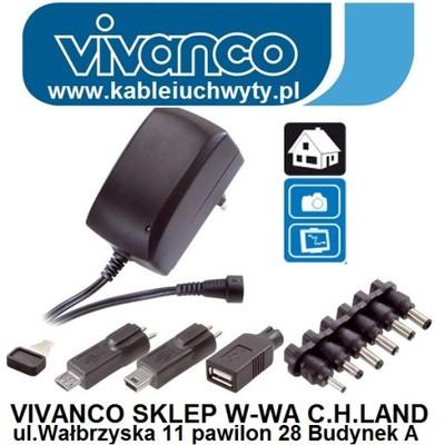 Stab.Zasilacz 3 - 12V 1,5A USB 5V VIVANCO PAU 1501