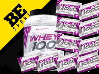 TREC WHEY 100 900 g 600g + 10x30g SERWATKA WPC