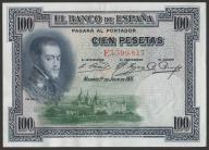 Hiszpania  - 100 peset - 1925 - Filip II