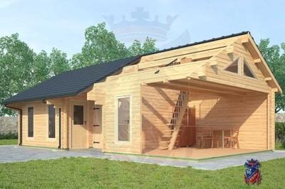 Garaż Drewniany Dom Letniskowy śc 70mm Antresola 6064360475
