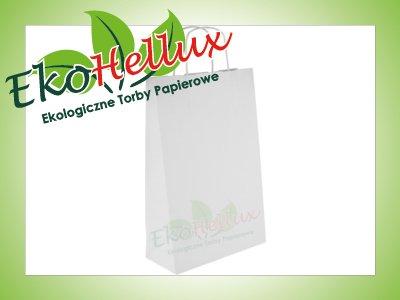Torba papierowa biała 24x10x36 A4+ 240x100x360