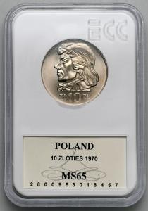 4727. 10 zł 1970 Kościuszko - GCN MS65