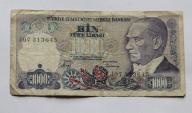 Banknot Turcja 1000 Lira 1970