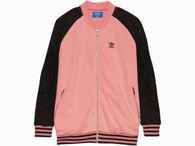 bluza adidas podrowy roz z czarnymi paskami