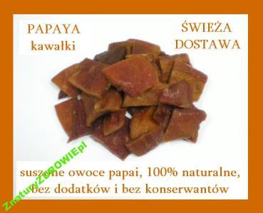 PAPAJA 1 kg suszone owoce 100% NATURALNE trawienie