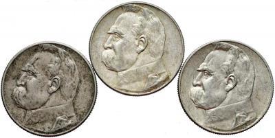 1531. 5 zł 1934, 1935, 1936 Piłsudski, st.3+