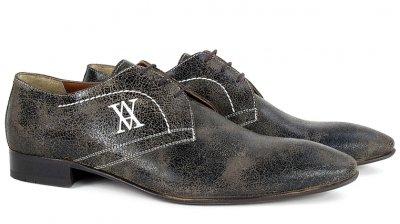 9fbf7473f0a96 Skórzane buty męskie półbuty OKAZJA - 6479896989 - oficjalne ...