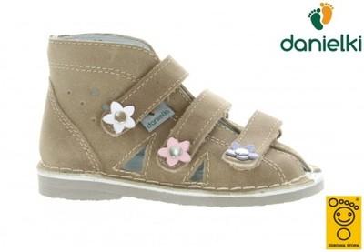 Kapcie DANIELKI buty profilaktyczne s124 beż, 23