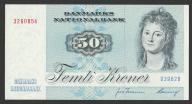Dania - 50 koron - 1972 - stan UNC