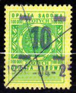 10 zł (2) - Opłata sądowa - DENOMINACJA