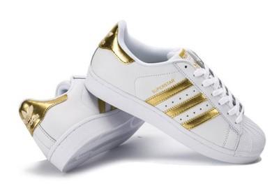 adidas superstar złote damskie