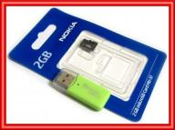 KARTA PAMIĘCI NOKIA microSD 2GB + CZYTNIK KART USB