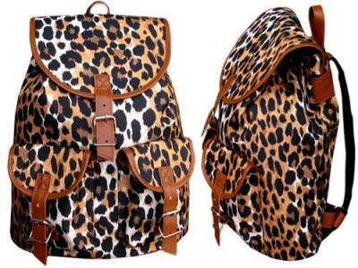 7925c72ff6255 Duży plecak VINTAGE panterka retro plecaki szkolne - 4128457206 ...