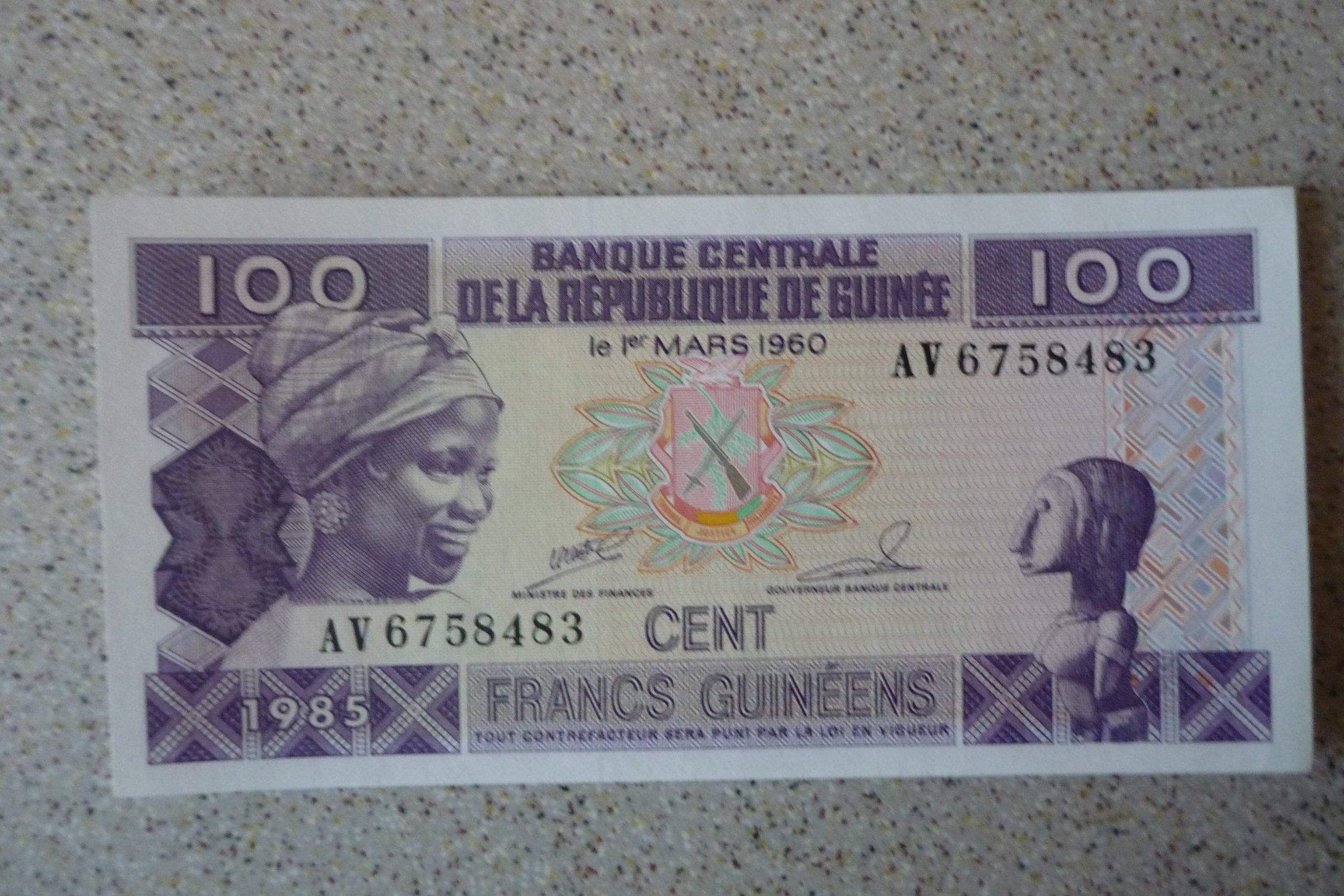 Gwinea - 100 franków
