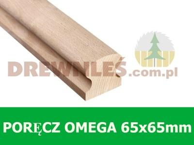 Poręcz, pochwyt drewniana OMEGA 65x65mm DĄB