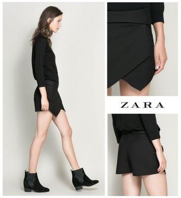 W Mega Asymetryczne szorty ZARA XS czarne - 6756130737 - oficjalne HR74