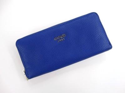 11aedbdd82c80 GUESS niebieski portfel damski na suwak HIT - 6678251665 - oficjalne ...