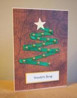 Kartka Święta świąteczna Boże Narodzenie CHOINKA