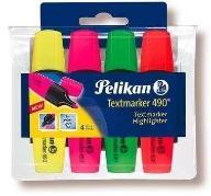 Zakreślacz 490 etui 4 kolory