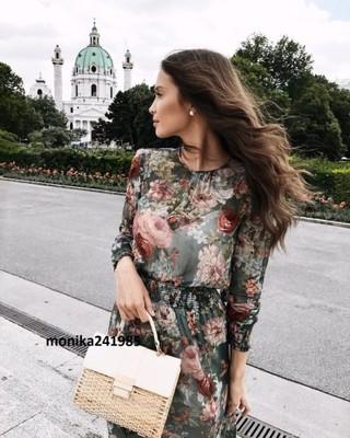 Luksusowa Sukienka w Kwiaty ZARA Exclusive XS