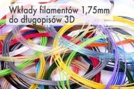 Wkłady PLA do długopisu 3D 1.75mm - 24 kolory x 2m