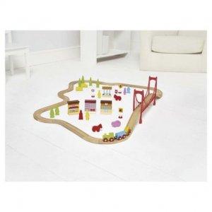 Carousel Wooden Train Set 60 Pieces Kolejka 4115 6518042361