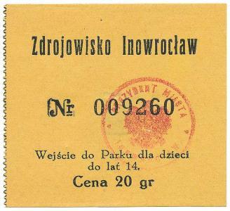 171. Inowrocław, Zdrojowisko - wejście do Parku