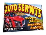 MECHANIKA SERWIS BANER 2x1m samochód BANERY audi
