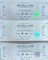 3 bilety na koncert 2Cellos hala Torwar Warszawa