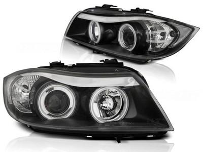 LAMPY BMW 3 E90/E91 05-08 RINGI CCFL BLACK