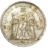 Francja - moneta - 5 Franków 1873 A - 2 - SREBRO