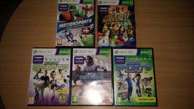 Zestaw 5 gier.Kinect Xbox 360