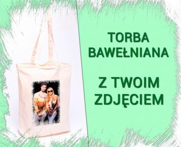 FOTO Torba torebka bawełniana z TWOIM ZDJĘCIEM
