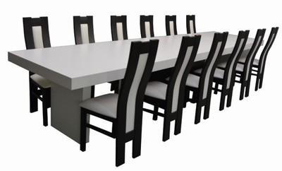 12 krzeseł duży rozkładany BIAŁY STÓŁ WYSPA Wybór