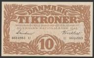 Dania - 10 koron - 1943 rok