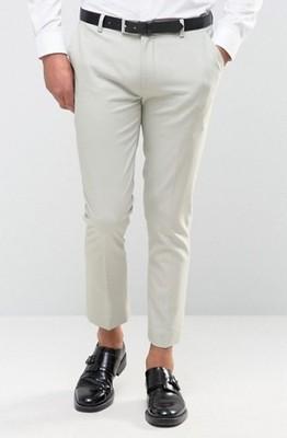 mf0 spodnie ex Asos skinny szare galowe W29 L30