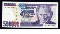 BANKNOT TURCJA 500000 LIRÓW ROK 1970