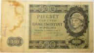 500 ZŁOTYCH 1940